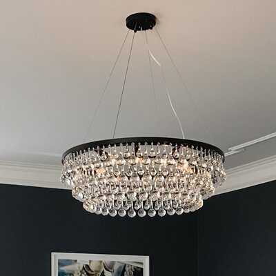 Fabrice 10-Light Crystal Chandelier Finish: Black