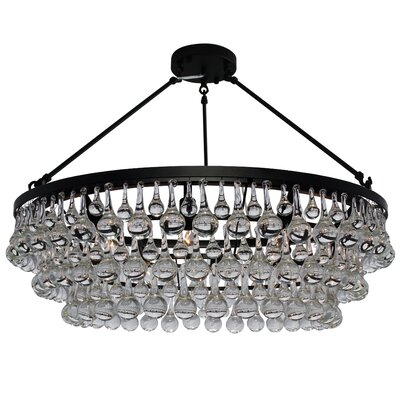 Fabrice 10-Light LED Flush Mount Finish: Black
