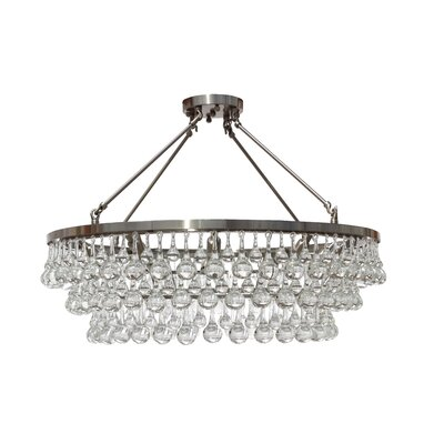 Fabrice 10-Light Crystal Chandelier Finish: Brushed Nickel