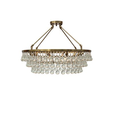 Fabrice 10-Light LED Flush Mount Finish: Brass