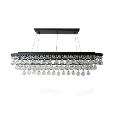 Rosso 8-Light Crystal Chandelier Finish: Black