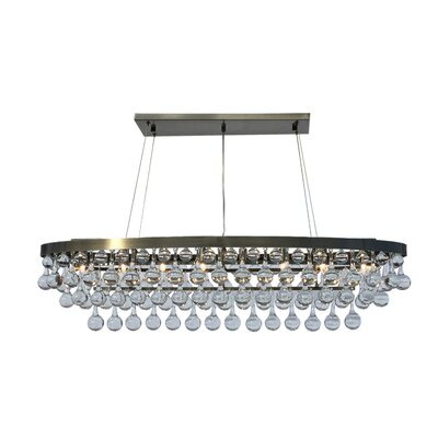 Fabrice 8-Light Crystal Chandelier Finish: Antique Brass