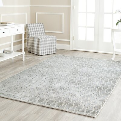 Birksgate Gray Area Rug Rug Size: Rectangle 4 x 6