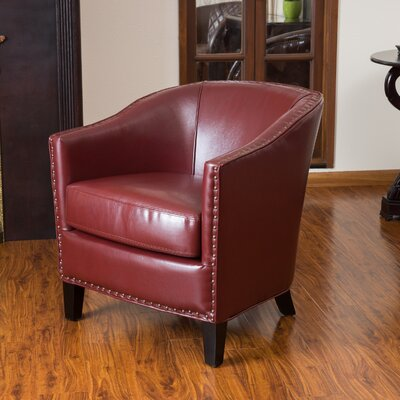 Borquez Barrel Chair Upholstery: Red