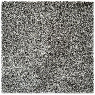 Delmon Platinum/Ivory Area Rug Rug Size: Square 5