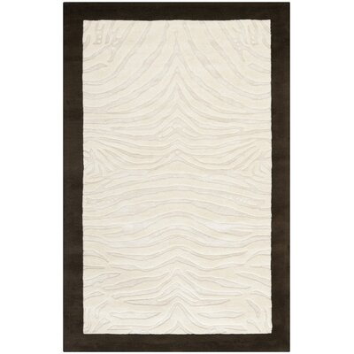 Thornbury Ivory/Espresso Contemporary Rug Rug Size: Rectangle 36 x 56