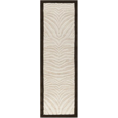 Thornbury Ivory/Espresso Contemporary Rug Rug Size: Runner 26 x 8