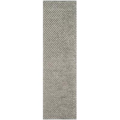 Maya Silver Rug Rug Size: Runner 23 x 8