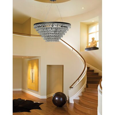 Fabrice 15-Light Tapered Glass Drop Crystal Chandelier
