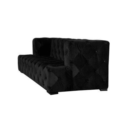 Audree Chesterfield Sofa Upholstery: Black Velvet