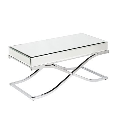 Ames Mirrored Coffee Table