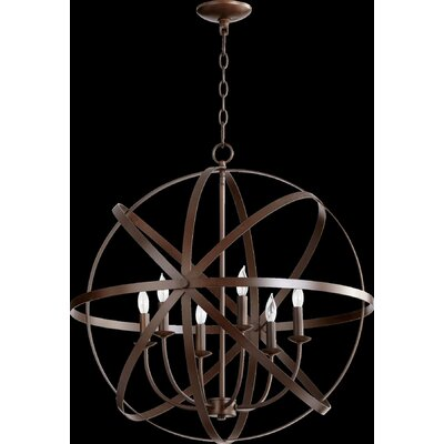 Dian 6-Light Candle-Style Chandelier Finish: Oiled Bronze