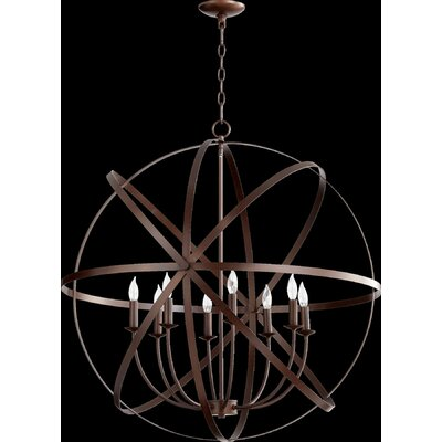 Dian 8-Light Metal Candle-Style Chandelier Finish: Oiled Bronze