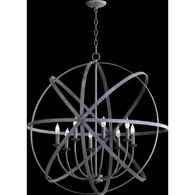 Dian 8-Light Metal Candle-Style Chandelier Finish: Zinc
