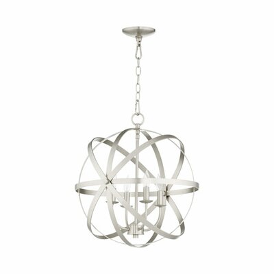 Dian 4-Light Candle-Style Chandelier Finish: Satin Nickel