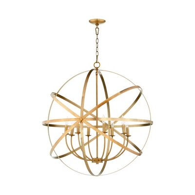 Lucas 8-Light Candle-Style Chandelier Finish: Aged Brass
