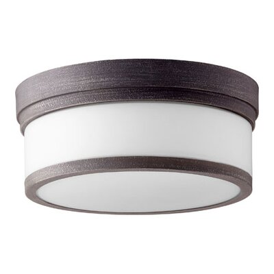 Dian 2-Light Flush Mount Finish: Zinc