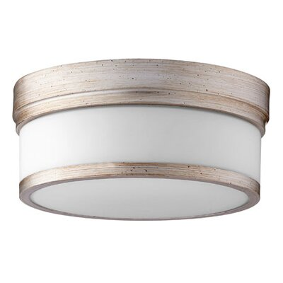 Dian 2-Light Flush Mount Finish: Aged Silver Leaf