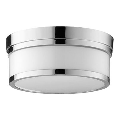 Lucas 2-Light Flush Mount Finish: Polished Nickel