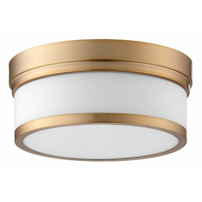 Dian 2-Light Flush Mount Finish: Aged Brass