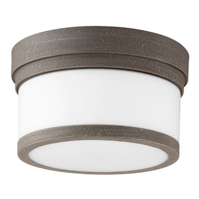 Lucas 1-Light Flush Mount Finish: Zinc