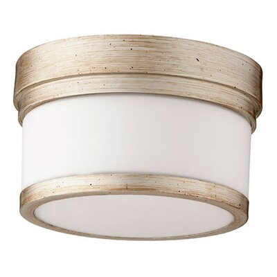 Dian 1-Light Flush Mount Finish: Aged Silver Leaf