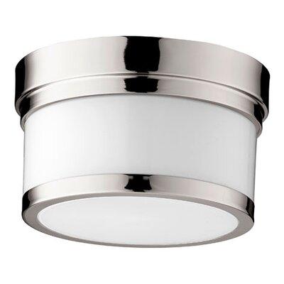 Dian 1-Light Flush Mount Finish: Polished Nickel