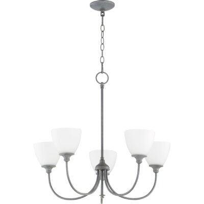 Dian 5-Light Shaded Chandelier Finish: Zinc