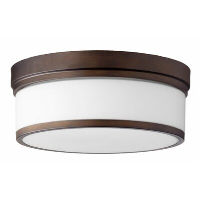 Dian 3-Light Flush Mount Finish: Oiled Bronze