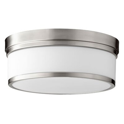 Dian 3-Light Flush Mount Finish: Satin Nickel