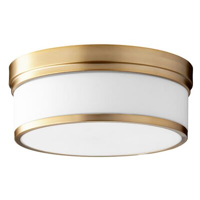 Lucas 3-Light Flush Mount Finish: Aged Brass