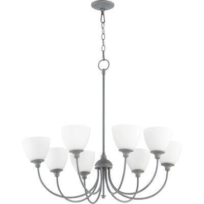 Dian 8-Light Shaded Chandelier Finish: Zinc