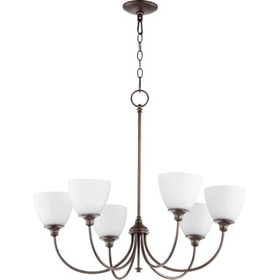 Dian 6-Light Shaded Chandelier Finish: Oiled Bronze