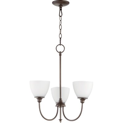 Dian 3-Light Shaded Chandelier Finish: Oiled Bronze