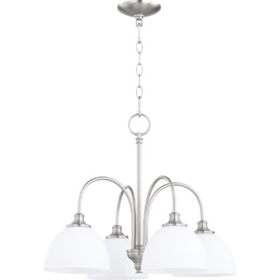 Dian 4-Light Shaded Chandelier Finish: Satin Nickel