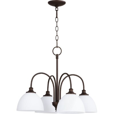 Dian 4-Light Shaded Chandelier Finish: Oiled Bronze