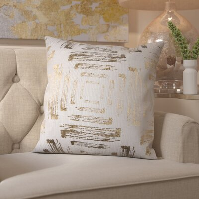 Doughty Cotton Throw Pillow Color: Gold