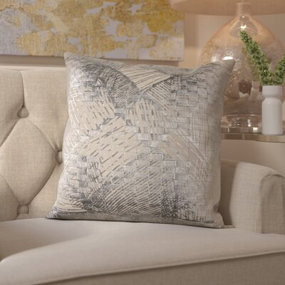 Downham Cotton Throw Pillow Color: Silver
