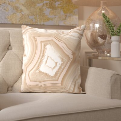 Tanaquil Adoregeo Camel Velvet Throw Pillow