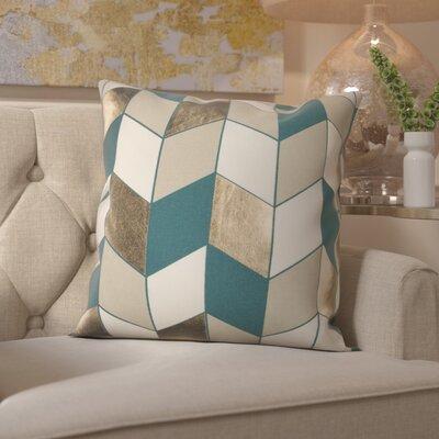 Shipp Cotton Throw Pillow Color: Teal