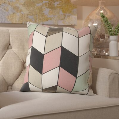 Shipp Cotton Throw Pillow Color: Pink