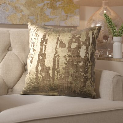 Cuaron Metallic Splatter Cotton Throw Pillow