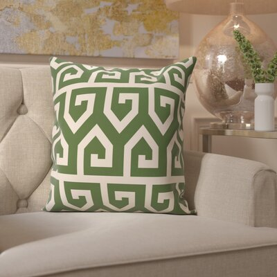Benedito Geometric Print Outdoor Throw Pillow Size: 18 H x 18 W, Color: Gray