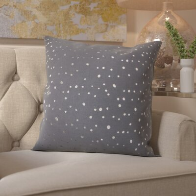 Janson Cotton Throw Pillow Color: Silver