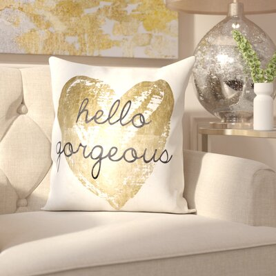 Tally Gorgeous Salute Velvet Throw Pillow
