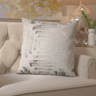 Doughty Cotton Throw Pillow Color: Silver