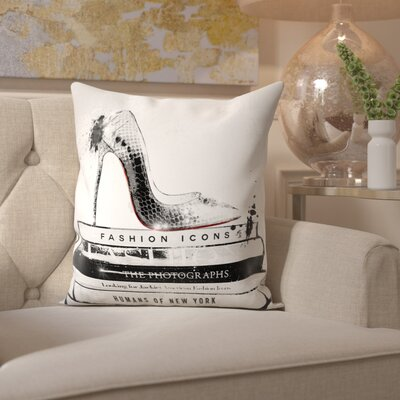 Tamworth Fashion Icons Velvet Throw Pillow