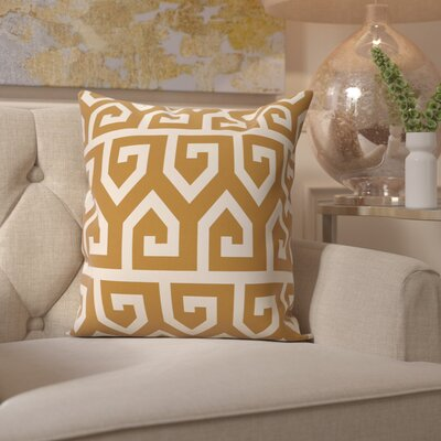 Benedito Geometric Print Outdoor Throw Pillow Size: 20 H x 20 W, Color: Gold