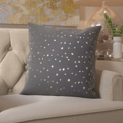 Janson Cotton Throw Pillow Color: Gold