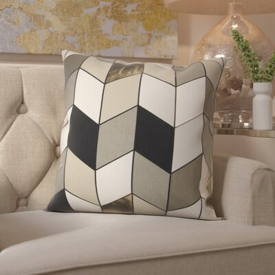 Shipp Cotton Throw Pillow Color: Gray